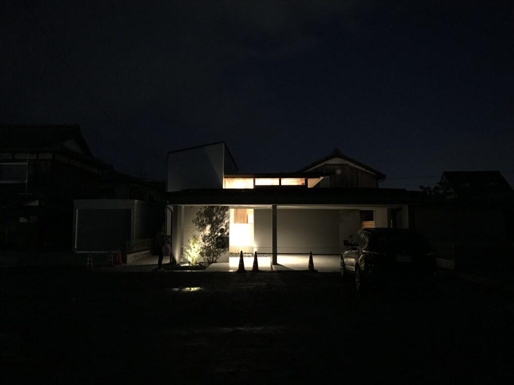 「上笠の家」夜景