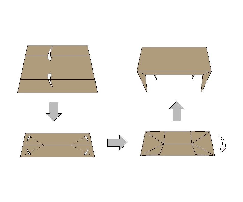 ORI table(ジャパン・デパートストアのイベント展示机)
