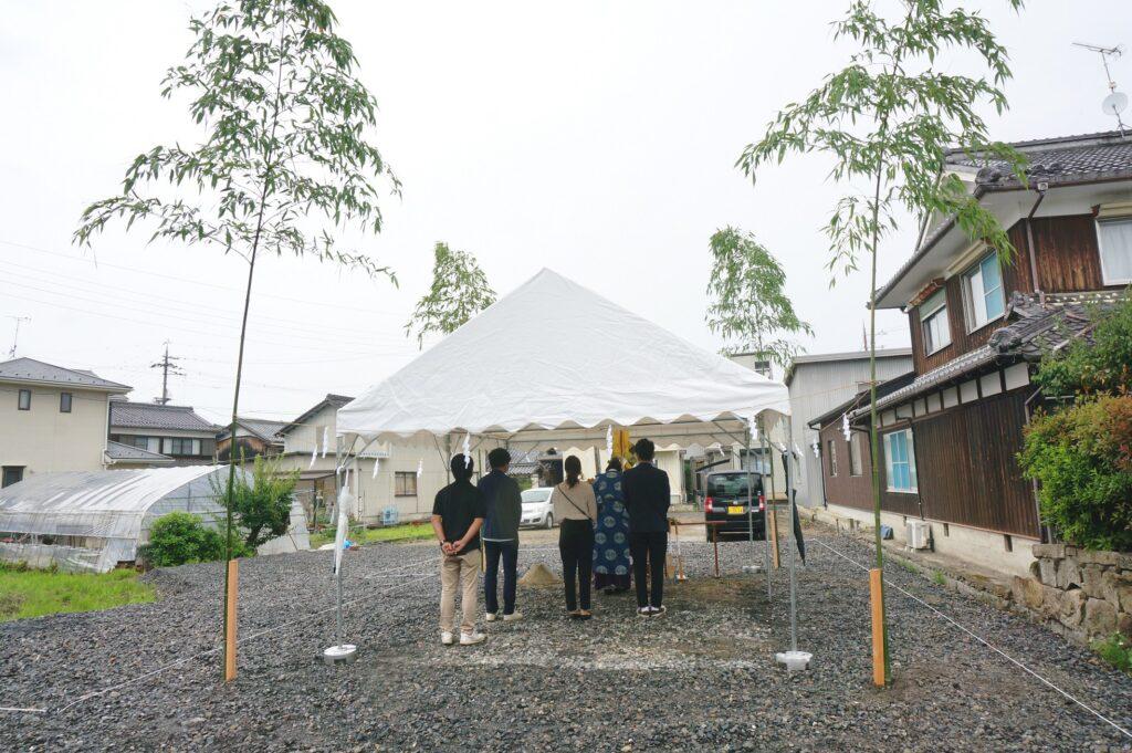 野洲市吉川の家の地鎮祭を行いました