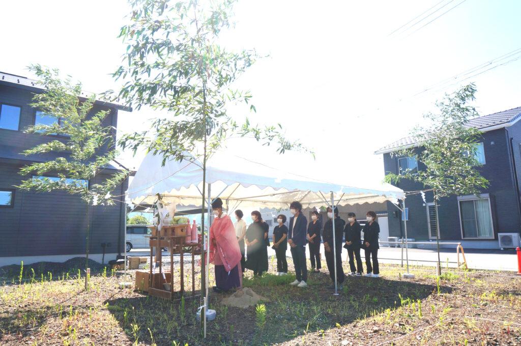 長浜のオフィス 地鎮祭を執り行いました。