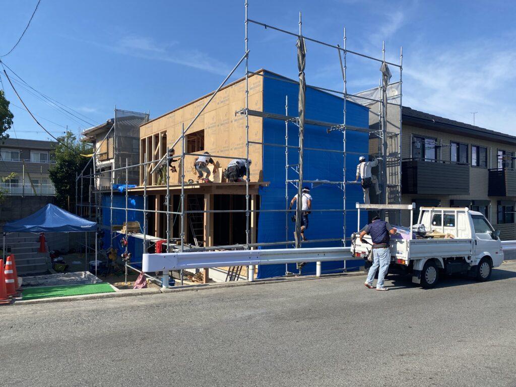 美崎町の家 棟上げを行いました。